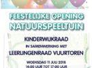 Woensdag 11 juli feestelijke opening natuurspeeltuin